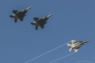 F-15E breaking formation