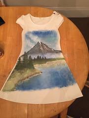 Bob-ross-painting-dress (NotoriousAMY) Tags: bobross halloween mountain painting diy costume