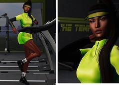 LOOK 0057 (Toxic 90's Blog) Tags: sl slavi slblog slblogger slpic doux nuno letre valekoer rowne backdropcity fitness gym catwa maitreya itgirls {{lune}}