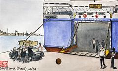 Le Pirée, Grèce (chando*) Tags: aquarelle croquis sketch watercolor