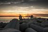 Sunset a Sottomarina (paolotrapella) Tags: sunset tramonto sottomarina italy mare scogli sky cielo clouds nuvole