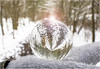 Snowy Sphere (jo92photos) Tags: sphere crystal snow woods dog upsidedown winter glove mitten refraction flare