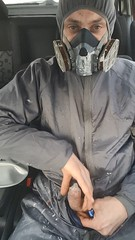 Wanking (michael paintsprayer) Tags: wank cum cumming paint spray gas mask relax condom wanking love s10 rubber bondage cumshot helpless visit breath control training
