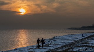 Romantic on the winter beach
