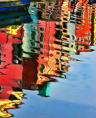 Compose with color (yan08865) Tags: water people colors reflections italy burano venice city pics solo flow boats sea river ocean coast landscape pavlis miror murano depth photos