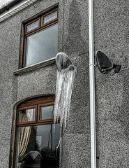 """Icy Reception"" (Jon_Wales) Tags: ice icicles satellite dish wales welsh winter beastfromtheeast tv frost"