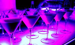 Welcome drink in a night club - bar counter (king1khaledd) Tags: cocktails martini glass bar blue light violet achohol drink refreshment celebration event pub liquor liqueur counter club night arrangement welcomedrink illuminated russianfederation
