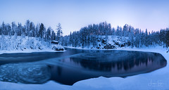 Blue Hour at Myllykoski (lsten) Tags: rock natureview travelphotography nature water theunforgettablepictures trees tripod wideangle tree canoneos5dmarkiv trail stitched view 16mm winter leebigstopper nationalpark clouds f90 cliffs panorama kuusamo peaceful naturephotography stunning longexposure blue myllykoski serenity beautiful ndfilter tranquility canonef1635mmf4lisusm finland rocks amateurphotography bluehour oulankanationalpark wilderness iso800