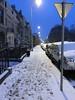 Trottoir au Square Riga sous la neige (Flikkersteph -5,000,000 views ,thank you!) Tags: street winter snow ice coldtemperature city homes facades streetlight lighteffect riga schaerbeek brussels