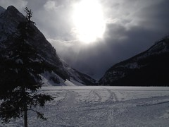 Lake Louise (Mr. Happy Face - Peace :)) Tags: art2018 banff lakelouise environment rockies hiking forest lake winter yyc heavens sky sun cloud scenery