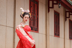 470 (A.P.VN) Tags: queen feudal royal power red shoulder vintage