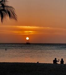 Tropical sunset.... (rienschrier) Tags: beach tropen zonsondergang strand sunset