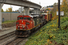 CN 2400 ~ Sapperton (Chris City) Tags: train railway railroad cn cnr sapperton transfer barn