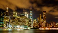 New York Manhattan (christopherbischof) Tags: newyork eastriver manhattan skyline skyscraper newyorkskyline america amerika usa city citylights stadt wolkenkratzer wolken worldtradecenter clouds fujifilm fujifilmxe1