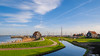 Landscape in Holland (✦ Erdinc Ulas Photography ✦) Tags: dutch holland netherlands landscape green water sky clouds houses house traditional culture old path lake ship boat roof travel panasonic grass enkhuizen reflection wood