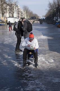 Grachten keizersgracht Amsterdam schaatsen GHengeveld _26