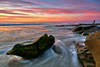 La Jolla Sunset: 12/26/17 no.2 (tltichy) Tags: lajolla beach california coast coastal horseshoereef longexposure ocean orange outdoors pacific photographer pink reef rock sandiego seascape socal southerncalifornia sunset water waves