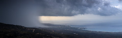 Deluge (JoshyWindsor) Tags: panorama europe cyprus ocean inclement storm travel canoneos5dmarkiii weather canonef70300mmf456l pafos greece rainclouds rain landscape clouds
