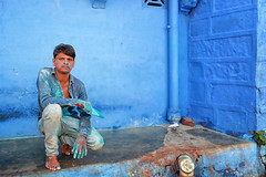 rajasthan - india 2018 (mauriziopeddis) Tags: rajasthan india jodhpur blu color street reportage canon people portrait ritratto tribe tribal culture cultural blue