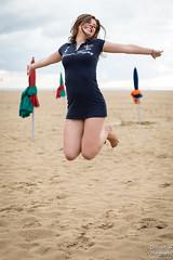 Emma (Vincent-s Photographe) Tags: deauville exterieur plage robe parasol outside outdoor beach normandie normandy dress jump saut sand sable sea mer joy cute beautiful girl