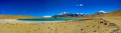 Ladakh - On the way to Tsomoriri Lake (3 photos stitched using Autostitch) (P S M) Tags: ladakh tsomoriri lake brackish water panasonic lumix fz35 panorama autostitch