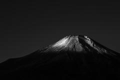 Fuji in B/W (Yuga Kurita) Tags: fuji mt mount fujisan san fujiyama japan landscape black white bw monochrome snowcapped mountain