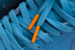 118in2018 #6 obsession (Karen Juliano) Tags: blue turquoise shoes sneakers nike laces tip orange sneakerhead obsession athletic basketball air jordan gatorade