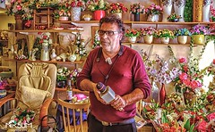 The florist who is also a singer and a busuki player at tiberia israel (tchia sheffer) Tags: