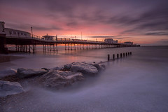 First light at the pier (Through Bri`s Lens) Tags: sussex worthingpier worthing sunrise pier beach dawn firstlight brianspicer canon5dmk3 canon1635f4 lee09softgrad leelittlestopper