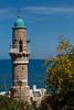 Looking at Tel Aviv (Ivona & Eli) Tags: minaret mosque arab muslim jaffa me tlv israel sunny summer travel mediterranean sea shore beach clouds sky horizon