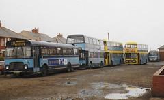 Fylde Blue Buses (Paul_Turner) Tags: fylde borough bus bluebuses bristolre leyland atlantean hrn105n