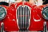 Jaguar XK120, ca. 1950 (film) (mkk707) Tags: film analog wwwmeinfilmlabde leicaflexsl2 itsaleica summicronr50mm leitzcamera manualfocuslens manualfocusing red vintagelens vintagefilmcamera classiccar germancameras technikmuseum speyer germany bokeh