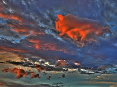 Stormy sunset I (elphweb) Tags: hdr highdynamicrange nsw australia seaside sky skies clouds cloud sun sunset colourful colorful color colour