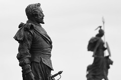 Sir Frances Drake (mcdowall.mark) Tags: sir frances drake plymouth hoe devon england 2018 winter dusk statue bronze britannia sky canon80d