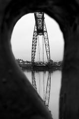 Newport teardrop. (Sean Hartwell Photography) Tags: newport gwent wales transporterbridge bridge riverusk industry industrial blackandwhite monochrome frame