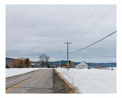 hébertville (Mériol Lehmann) Tags: landscape winter road cloudy topographies farm barn canada rural quebec poles snow hébertville québec ca