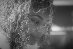 My baby girl (stellagrimsdale) Tags: daughter blackandwhite monochrome girl princess beauty beautiful portrait hair bokeh beautifulgirl beautifulwoman portriatwoman curlyhair