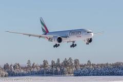 A6-EFE Emirates Boeing 777-F1H (Otertryne2010) Tags: 2018 2k18 engm gardermoen norge norway osl oslo boeing 777f1h emirates landing snow snø vinter winter