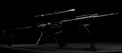 CA-15 (It's my whole damn raison d'etre) Tags: ar15 assault rifle gun noir shadow control bipod strobe flash nikon alex erkiletian