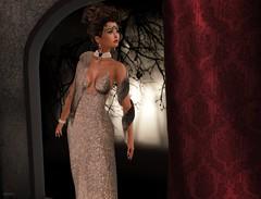 Elegance (kare Karas) Tags: woman femme girl girly diva lady elegance cute pretty beauty beautiful avatar virtual secondlife sensual seduce gown fur jewelry queen event mesh poses march semblance attitude glitter zurijewelry zurirayna swankevent glitterposes