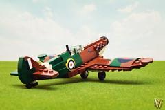 Lego Spitfire (Dread Pirate Wesley) Tags: lego spitfire supermarine mki battle britain british aviation airplane fighter world war ii ww2 wwii channel luftwaffe raf merlin