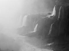 looking at Brazil (Beau Finley) Tags: iguazu iguacu beaufinley monochrome argentina waterfall cataract cataratas blackandwhite