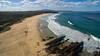 Autumn bathing (OzzRod (on the road again)) Tags: dji phantom3a drone quadcopter djifc300s aerial oblique beach bay rocks surf swell gulaga cuttagee