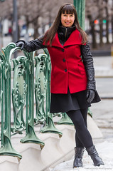 Mariane-07 (TheEvilDonut Photography) Tags: woman portrait outdoors winter montreal beautiful stunning feminine longhair thin jacket