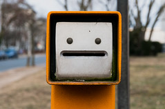 Parking automat (Manuel Lehé) Tags: germany hessen darmstadt parking face orange nex 6 sony