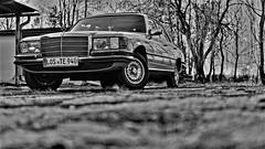41 Year Old Mercedes S- Klass  116 (kopiecmarcin) Tags: mercedes sklass oldtimer 116 car blackandwhite bw auto monochrome olympus omd10mark2 lumixg25