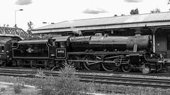 44932 Winchfield 5 August 2010 (25) (BaggieWeave) Tags: steamengine steamlocomotive steam steamtrain 44932 black5 blackfive hampshire winchfield cathedralsexpress 460 bw blackandwhite