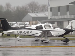 OK-OKP Cirrus SR22T Transport Safety Resolutions Ltd (Aircaft @ Gloucestershire Airport By James) Tags: gloucestershire airport okokp cirrus sr22t transport safety resolutions ltd egbj james lloyds