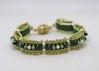 Carrie (BeeJang - Piratchada) Tags: beadweaving beading beadwork handmade carrier beads swarovski pearl bracelet jewelry green delica peyote