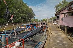 Waiting for high tide (zol m) Tags: coastalfishermen selangor lowtide fishingboat jetty morib primelens fujinon xpro2 fujifilm zolsimpression zolmuhd